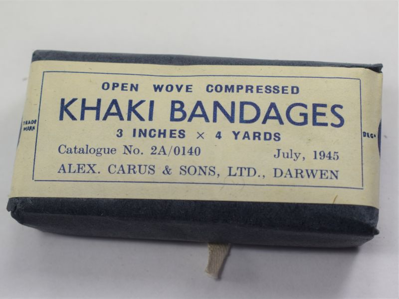 Excellent WW2 British Army Issue Khaki Bandage Dated 1945