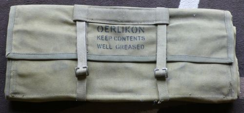 Un-issued WW2 British Oerlikon Tool/Spares Roll
