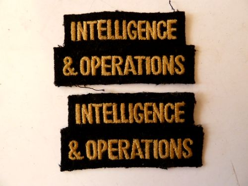 Original WW2 Civil Defence Cloth Shoulder Titles Intelligence
