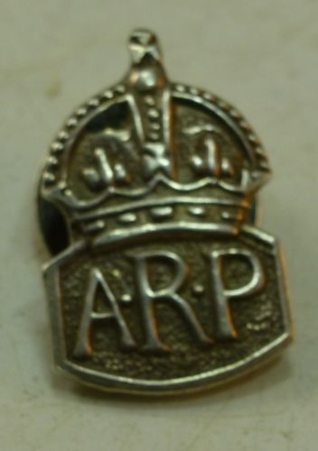 Miniature Silver ARP Badge with Lapel Fitting