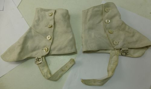 Vintage Military? White Canvas Spats