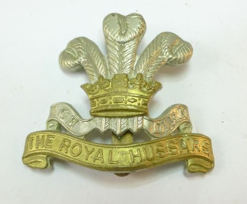 Original WW1 WW2 The Royal Hussars Cap Badge