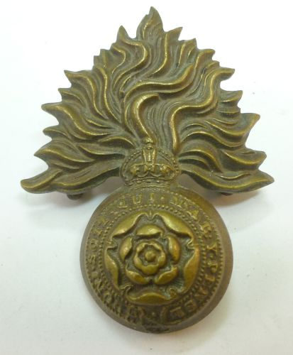 WW1 WW2 Royal Fusiliers Officers Bronze Cap Badge