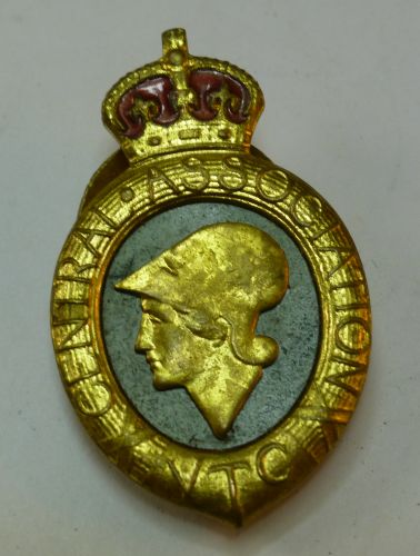 WW1 Central Association Voluntary Training Corps Badge