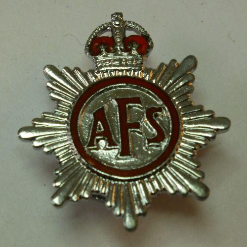Small WW2 AFS Lapel Badge J.Pinches Ltd, London