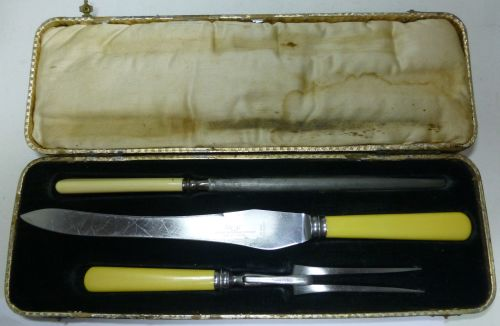 1935 Presentation Carving Set BSM T.S.Bailey Essex Yeo