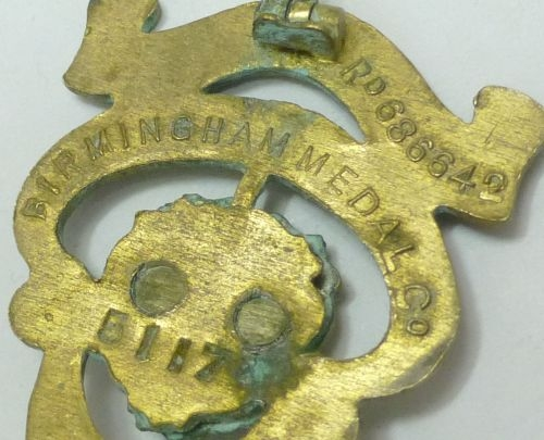 Large Size Early Woman's Section British Legion Pin Badge