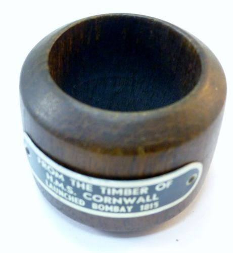 Napkin Ring Made from The Timber of HMS Cornwall