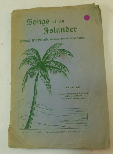 1918 Songs of an Islander Signed by Author