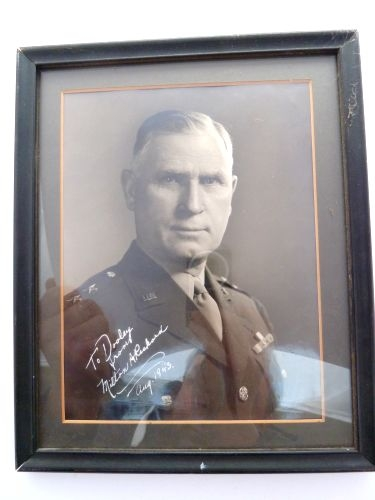 Original WW2 Signed Photo 2 Star General Milton A Reckord 1943