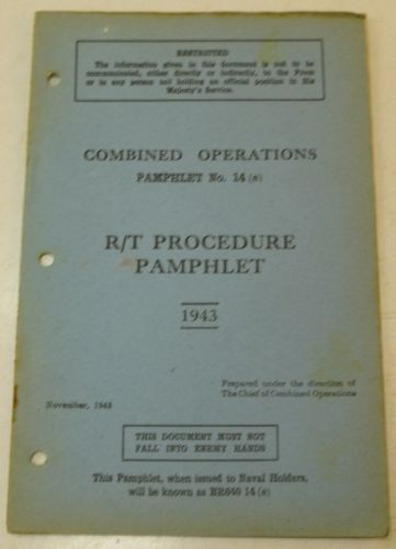 Combined Ops Pamphlet 14 (e) R/T Procedure 1943
