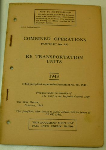 Combined Ops Pamphlet 35C RE Transportation Units