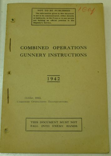 Combined Ops Pamphlet Gunnery Instructions