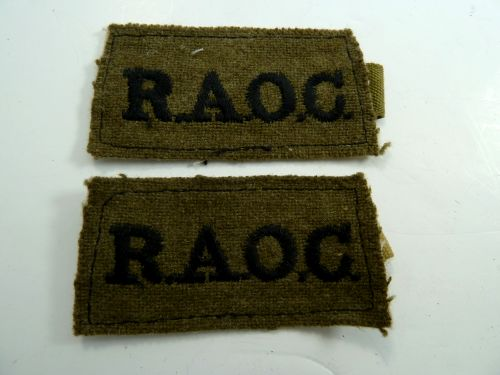 Original WW2 Royal Army Ordnance Corps Slip On Titles