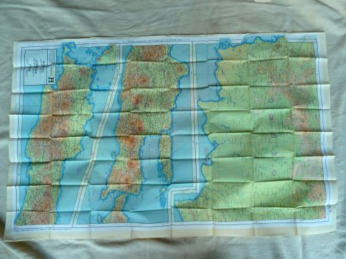 Mint WW2 Silk Escape Map 44G & 44H Sumatra, Java, Borneo
