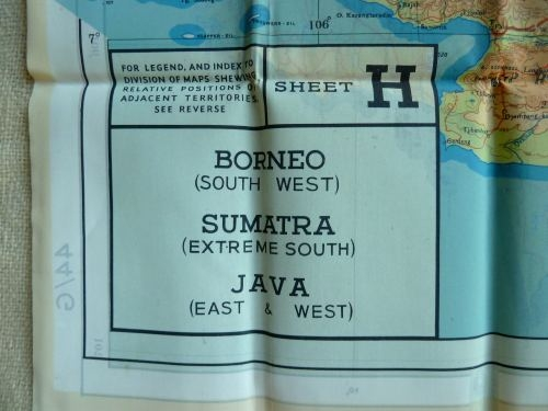 Mint WW2 Silk Escape Map 44G & 44H Sumatra, Java, Borneo