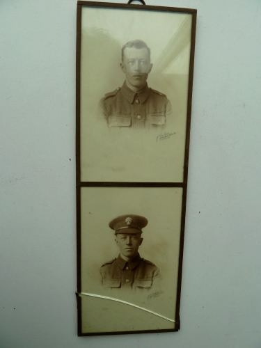 Interesting WW1 Photograph Pair of WW1 HAC Soldier