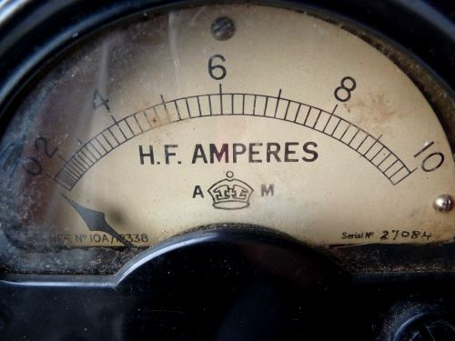 WW2 RAF AM Marked Hot Wire Ammeter Ref 10A/12338