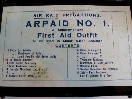WW2 ARPAID No1 Air Raid Shelter First Aid Tin