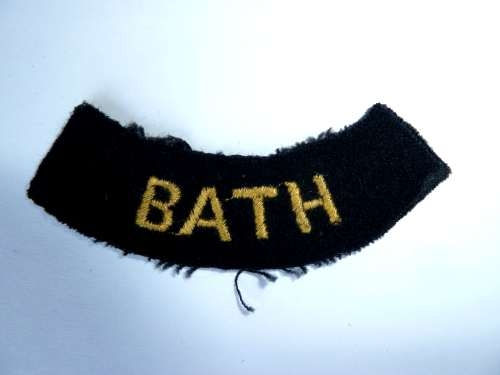 WW2 ARP & Civil Defence Breast Title For BATH