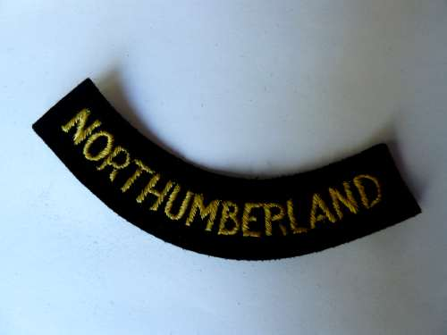 WW2 ARP & Civil Defence Breast Title For NORTHUMBERLAND