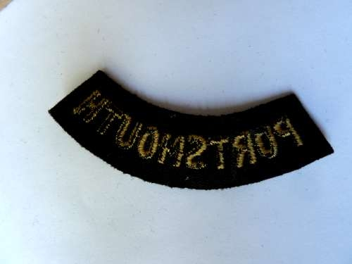 WW2 ARP & Civil Defence Breast Title For PORTSMOUTH