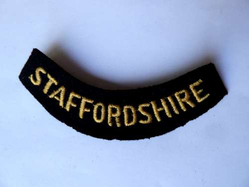 WW2 ARP & Civil Defence Breast Title For STAFFORDSHIRE