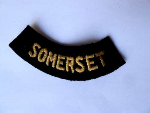 WW2 ARP & Civil Defence Breast Title For SOMERSET