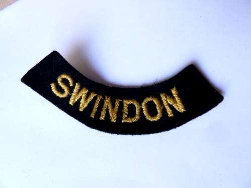 WW2 ARP & Civil Defence Breast Title For SWINDON