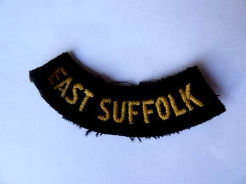 WW2 ARP & Civil Defence Breast Title For EAST SUFFOLK