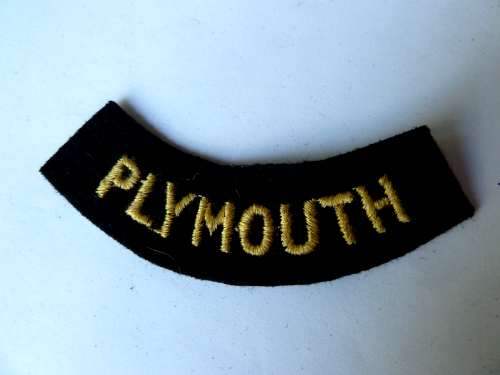 WW2 ARP & Civil Defence Breast Title For PLYMOUTH