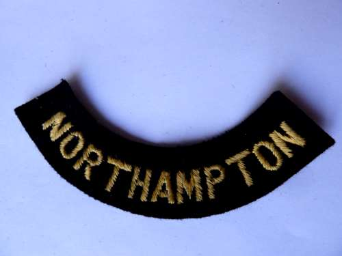 WW2 ARP & Civil Defence Breast Title For NORTHAMPTON