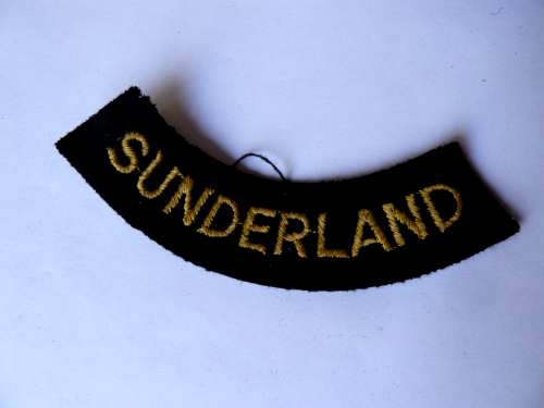 WW2 ARP & Civil Defence Breast Title For SUNDERLAND