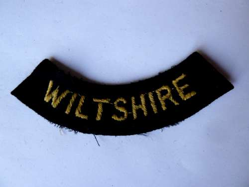 WW2 ARP & Civil Defence Breast Title For WILTSHIRE