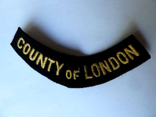 WW2 ARP & Civil Defence Breast Title For COUNTY OF LONDON
