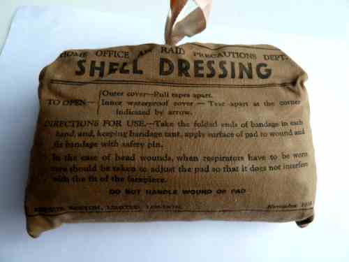Original Early WW2 Home Office ARP Shell Dressing