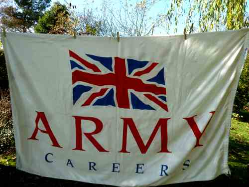 Large British Army Recruiting Flag Army Careers