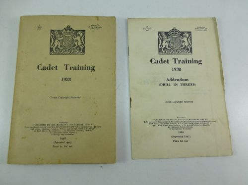 1938 Dated Cadet Training Manual & Amendment 1940
