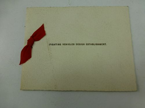 Fighting Vehicles Design Establishment Christmas card
