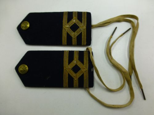 Unusual Early RN Officers Epaulettes RN Packet Service
