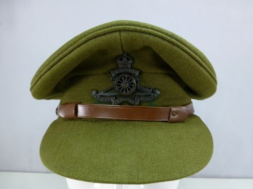 Original WW1 WW2 British Army Peaked Cap Chinstrap - World War Wonders 1ac4066745b