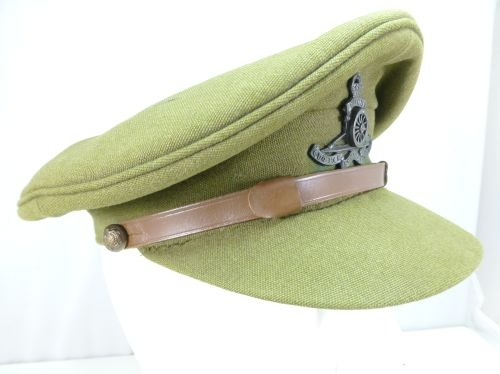 Original WW1 WW2 British Army Peaked Cap Chinstrap - World War Wonders 89d20ec0ef6