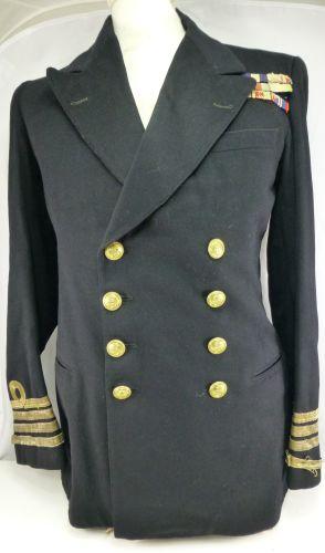 WW2 Captains Uniform jacket to H.H.A Perey DSC, GSM, MID