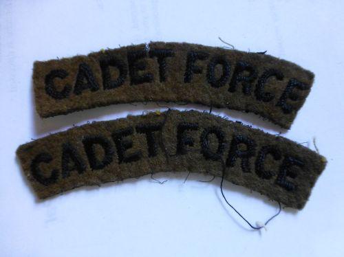 WW2 Era Cadet Force Cloth Shoulder Titles
