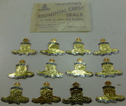 Original WW1 WW2 Royal Artillery Letter & Envelope Seals