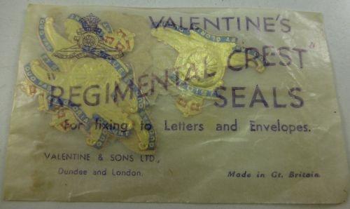 Original WW1 WW2 Royal Artillery Letter & Envelope Seals