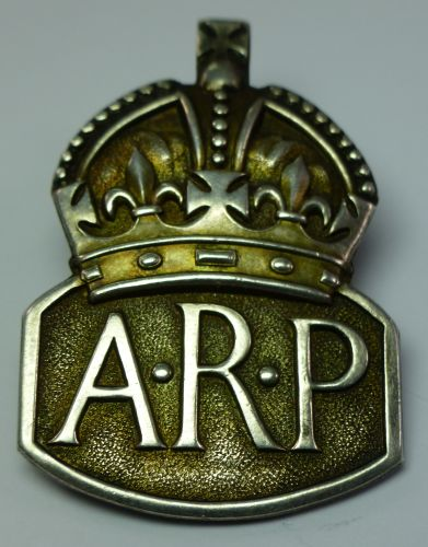 Very Early Hallmarked Silver ARP Badge Dated 1936