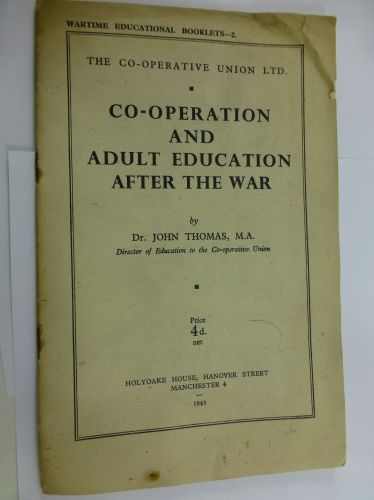 1943 Pamphlet Co-Operation & Adult Education After war