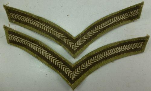 Original WW2 Printed Economy Lance Corporals Stripes
