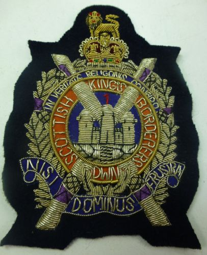 Large Kings Scottish Borderers Blazer Badge